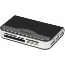 Картридер Intro combo: card reader + 3 port USB hub (black)