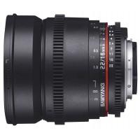Объектив Samyang 16mm T2.2 ED AS UMC CS VDSLR Canon EF-S (неполнокадровый)
