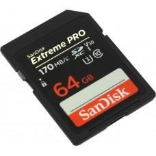 Карта памяти SanDisk Extreme Pro SDXC UHS-I 64GB 170MB/s