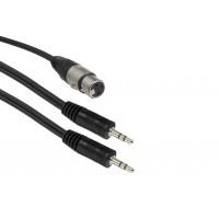 Кабель 2 miniJack(m) stereo - XLR(f) 1,5 м
