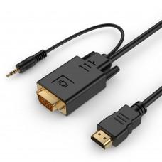 Кабель Gembird Cablexpert HDMI-VGA + 3.5Jack 1.8m
