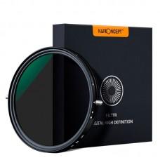 Светофильтр нейтрально-поляризационный K&F 55 мм Nano X-Pro ND2-32