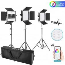 Комплект из трех светодиодных панелей Neewer LED-530 (RGB)
