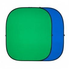 Хромакей GreenBean Twist 240x240 см (синий\зеленый)