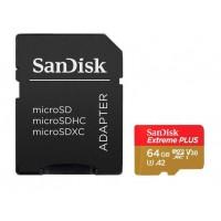Карта памяти SanDisk Extreme microSDHC 64 Gb Class 10 UHS-I A2 C10 V30 U3 90 MB/s