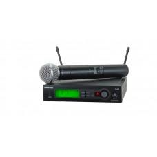 Беспроводная система SHURE SLX4 с радиомикрофоном.